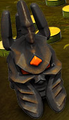 Orange Lich King Helmet Mega Bloks