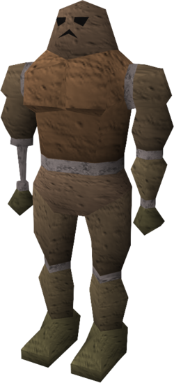 Damaged clay golem