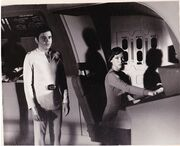 Jeri McBride and Walter Koenig