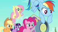 Main ponies scared of Peachbottom S03E12