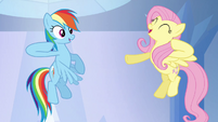 Rainbow Dash and Fluttershy &quot;chaaa!&quot; S03E12