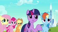 Twilight asks Peachbottom if she&#39;s the inspector S03E12