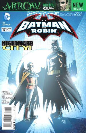 La cobertura de Batman y Robin # 17