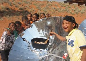 NaDEET solar cooking training 2012, 2-11-13
