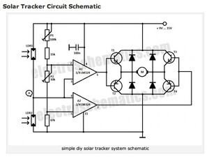 Solar Tracker circuit schematic