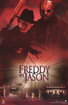 Freddy vs Jason red poster