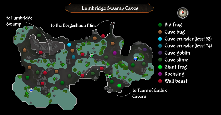 Swamp Caves map
