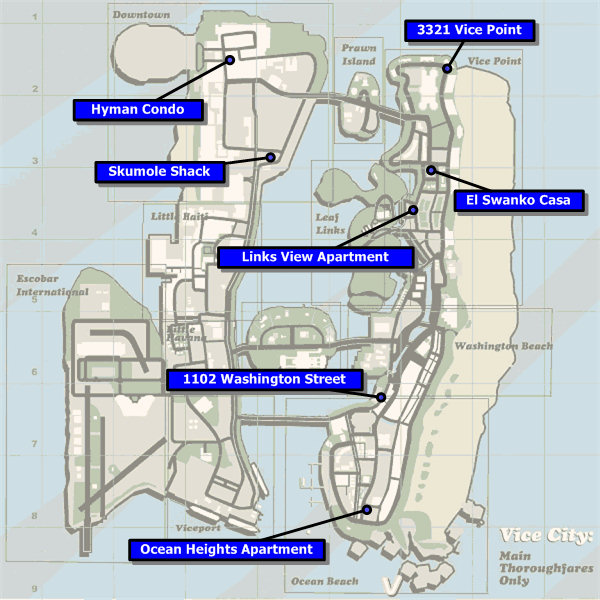 Safehouses In Gta Vice City Gta Wiki The Grand Theft