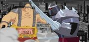 Krang and Ch&#39;rel Shredder fight