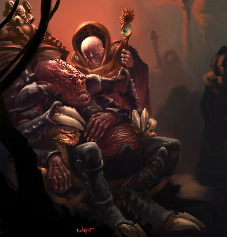 Genestealer Patriarch with Magus from the Warhammer 40k Wiki