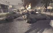 Destroyed Abrams Ambush COD4