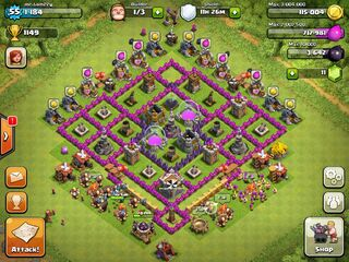 Image - Town hall level 8 base, farming.jpg - Clash of Clans Wiki