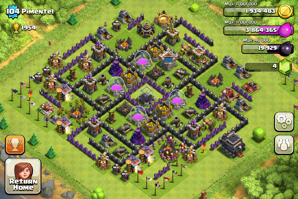 Clash of Clans Town Hall Level 9 Farming Base