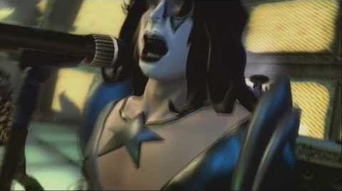 Guitar Hero 5 - Modern Day Delilah performance (custom Kiss characters)