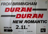 Berlin (Germany), Kant-Kino wikipedia poster duran duran 2 11 1981 first german tour