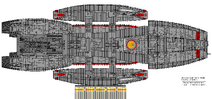 Galactica Type Block 1 Jupiter Class Hangar