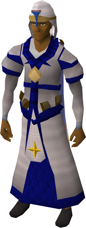 Saradomin vestments equipped