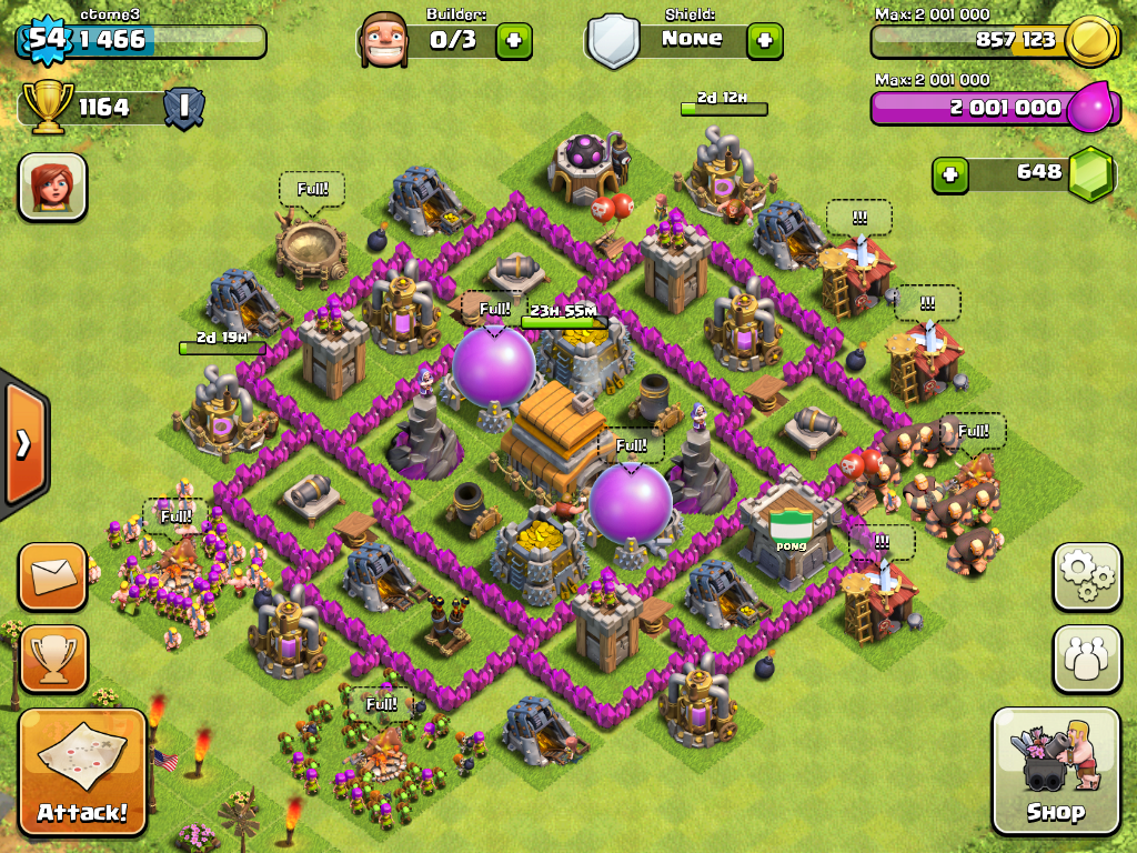 Clash of Clans Town Hall 6 Base