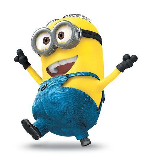 Despicable Me 2 Laughing Action Figure - Minion Stuart