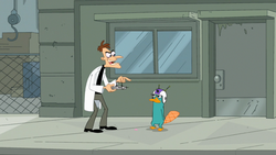Doofenshmirtz controls Perry