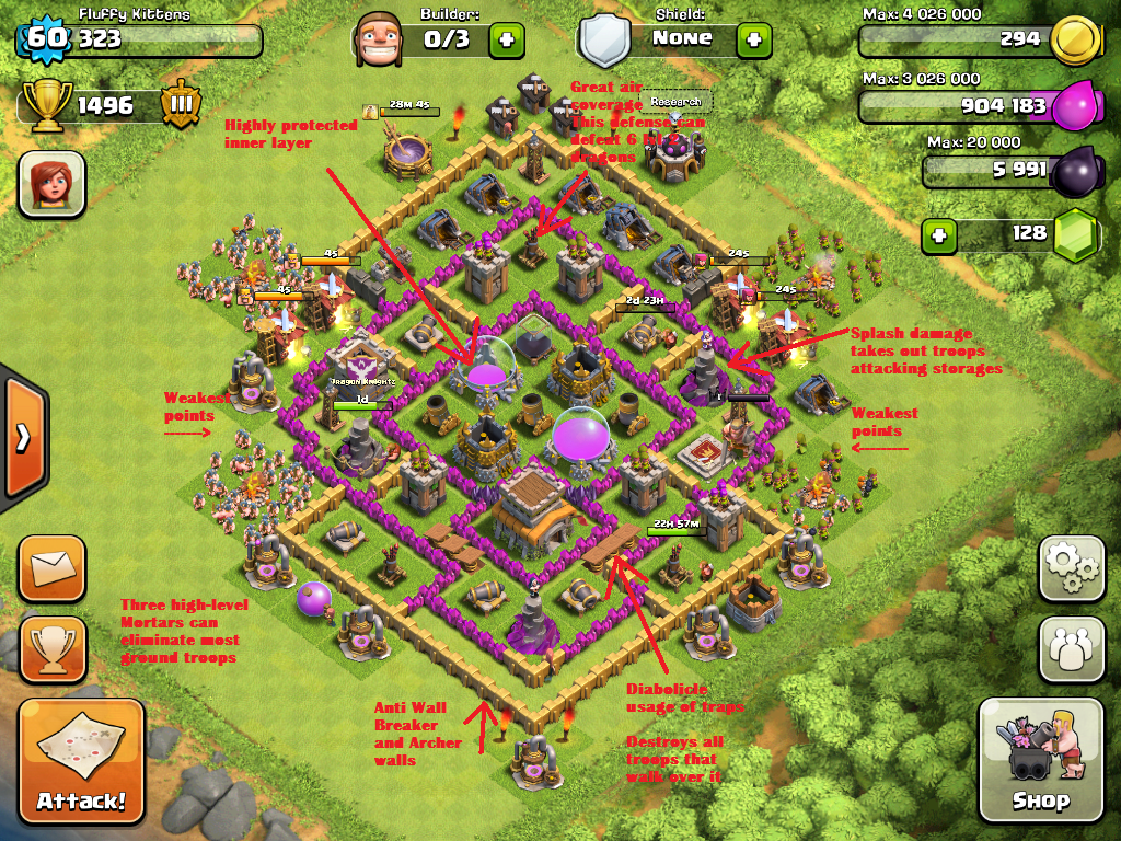 Clash of Clans Bases Town Hall Level 8
