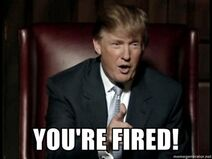 You&#039;re fired