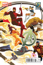 Avengers Vol 5 12 50 Years of Avengers Variant