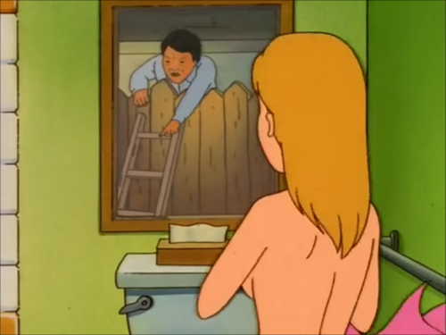 P Khan Sees Luanne Naked