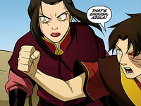 Zuko holding Azula back