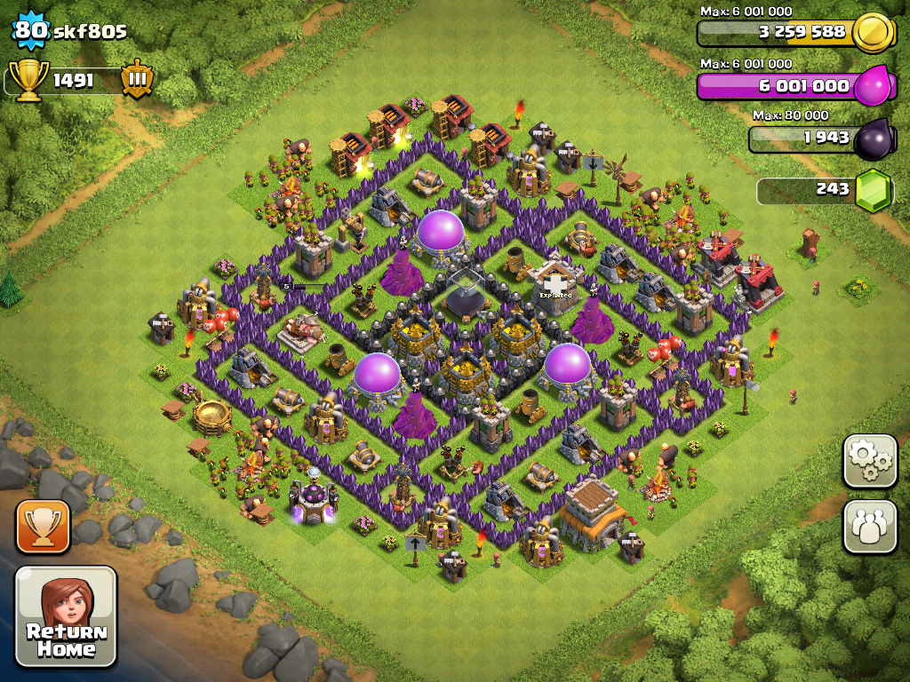 Clash of Clans Town Hall 8 Farming Base