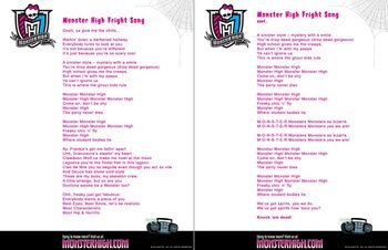 Website - Fright Song lyrics