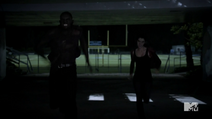 Teen Wolf Season 3 Episode 3 Fireflies Sinqua Walls Adelaide Kane Boyd and Cora Run to School