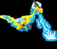 Elétrica do dragão 3d