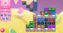 best way to clear the licorice x s especially on candy crush level 65