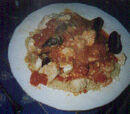 Adriatic Fish Stew over Angel Hair Pasta