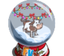 Winter Cow Snow Globe