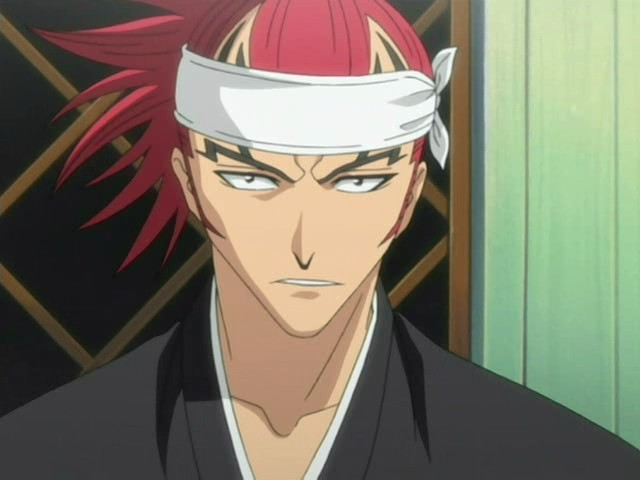 Abarai Renji ◊ from Bleach, with whom it's hard to tell where the tattoos