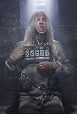 Lucius Malfoy, incarcerated at Azkaban Prison.