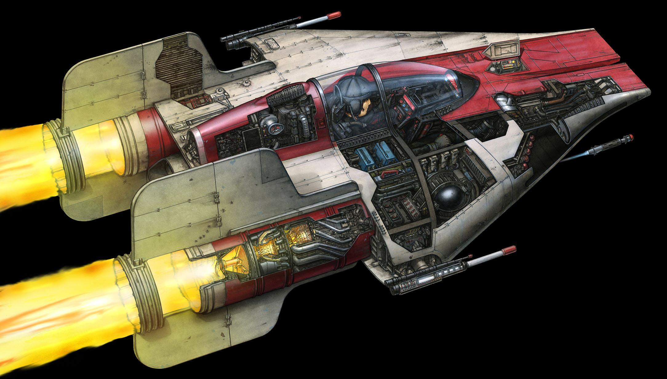 A-wing průřež