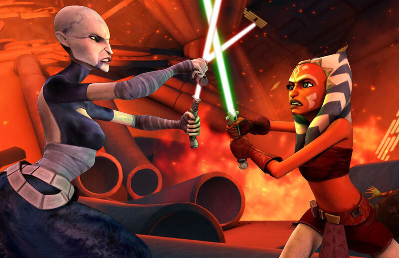 Ahsoka proves she can fight--even is shes a padawan