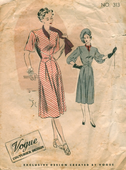 Vogue 313 - Vintage Sewing Patterns :  vintagepatterns vogue 313 sewing vintage sewing patterns
