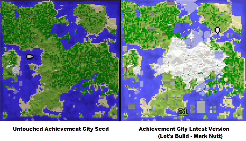 Achievement City Map Achievement City's Evolution: Original (Untouched) to Latest (LB